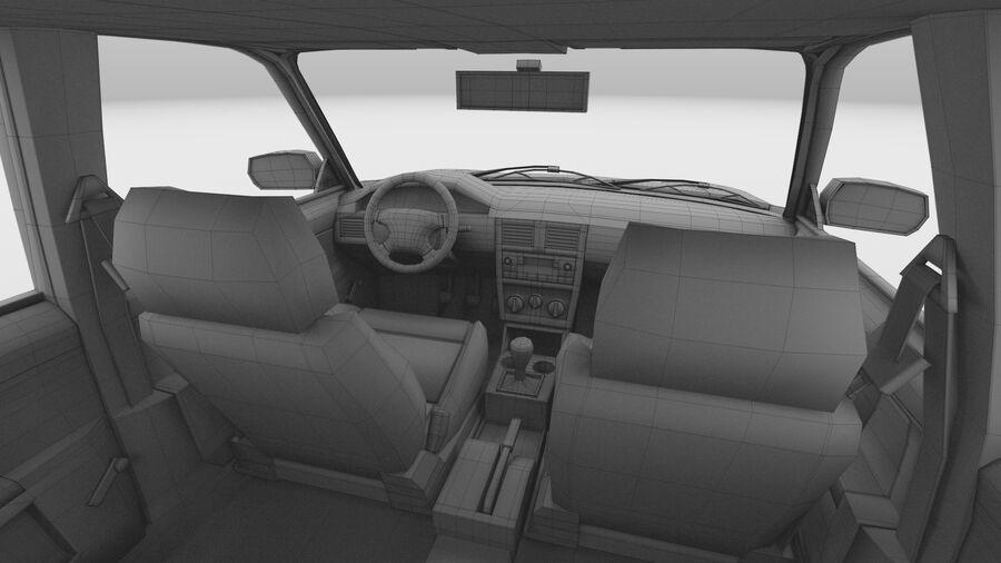 Generic car (Sedan) royalty-free 3d model - Preview no. 38