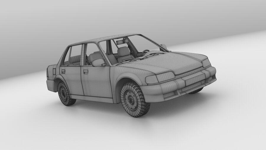 Generic car (Sedan) royalty-free 3d model - Preview no. 15