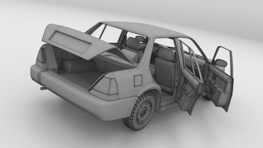 Generic car (Sedan) royalty-free 3d model - Preview no. 32