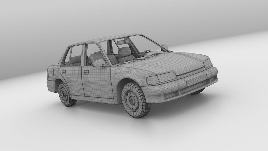 Generic car (Sedan) royalty-free 3d model - Preview no. 14