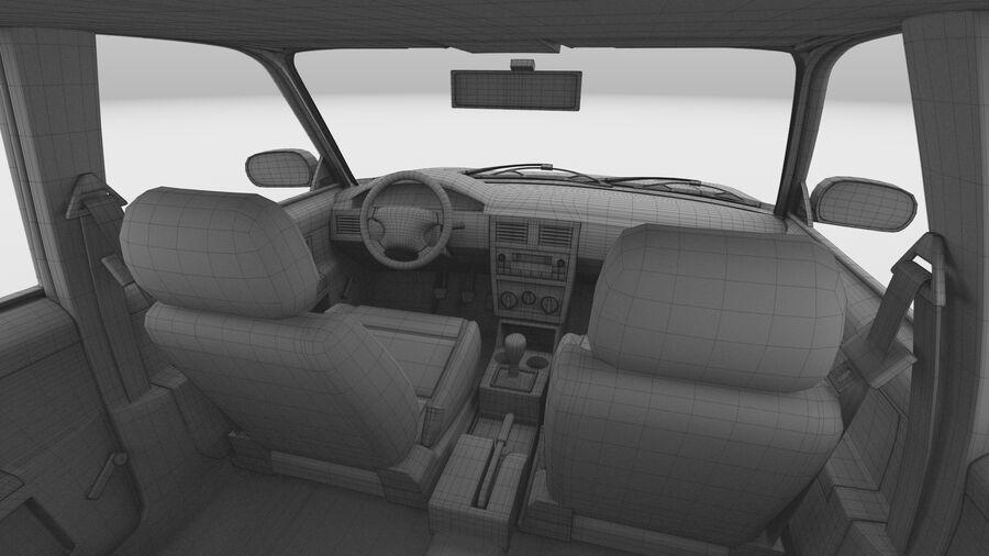 Generic car (Sedan) royalty-free 3d model - Preview no. 39