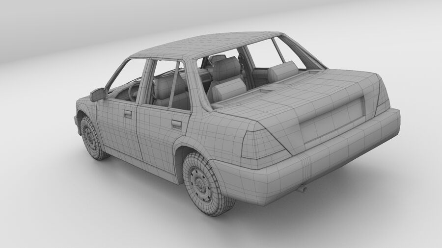 Generic car (Sedan) royalty-free 3d model - Preview no. 21