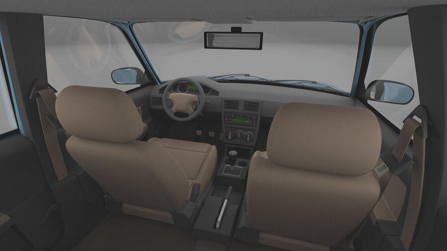 Generic car (Sedan) royalty-free 3d model - Preview no. 10