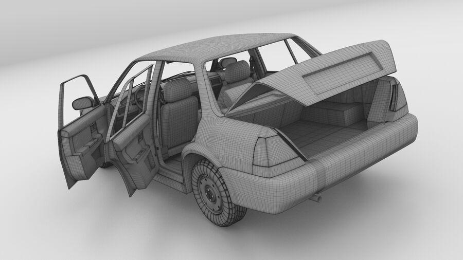 Generic car (Sedan) royalty-free 3d model - Preview no. 26