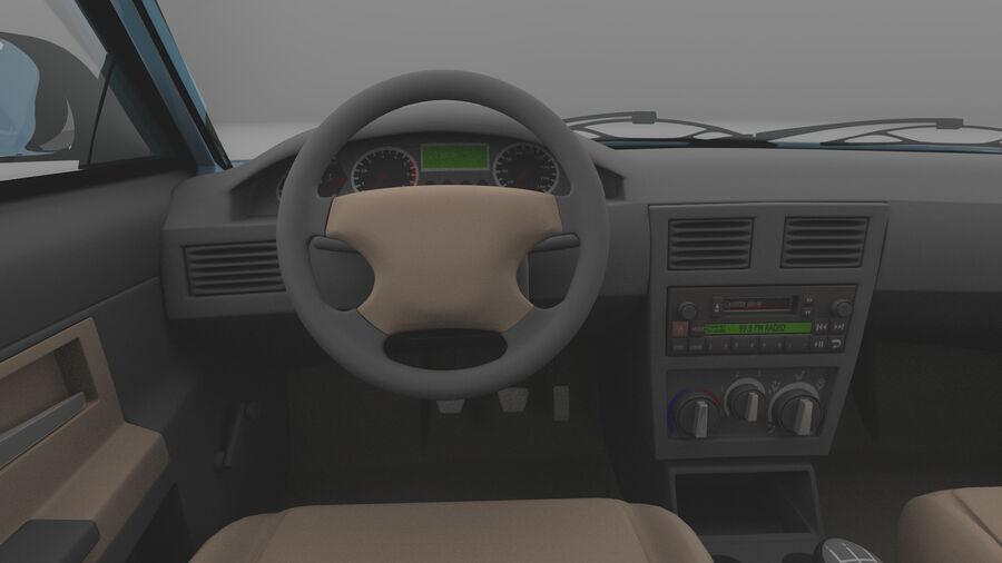 Generic car (Sedan) royalty-free 3d model - Preview no. 11