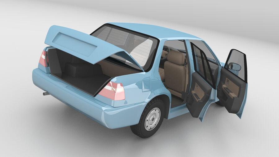 Generic car (Sedan) royalty-free 3d model - Preview no. 7