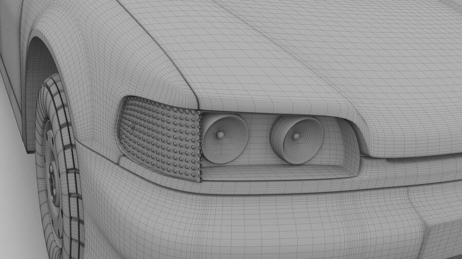Generic car (Sedan) royalty-free 3d model - Preview no. 19