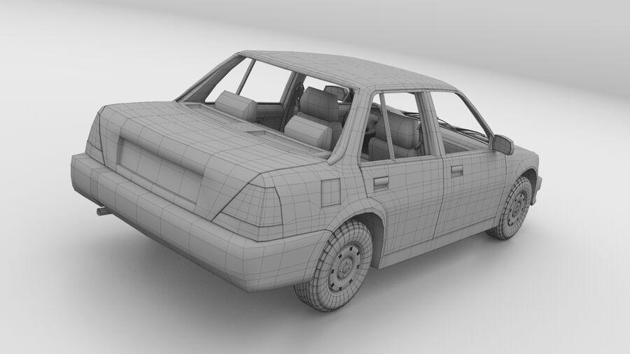 Generic car (Sedan) royalty-free 3d model - Preview no. 27