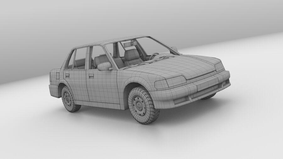Generic car (Sedan) royalty-free 3d model - Preview no. 13