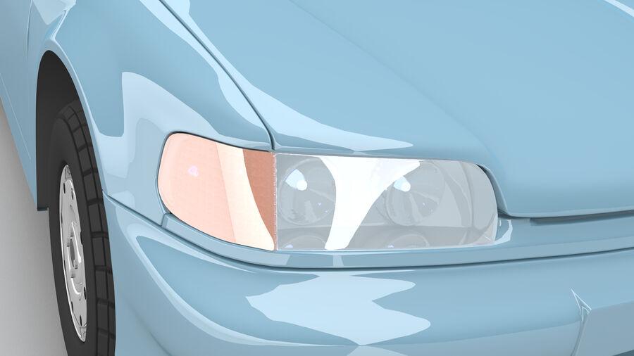 Generic car (Sedan) royalty-free 3d model - Preview no. 3