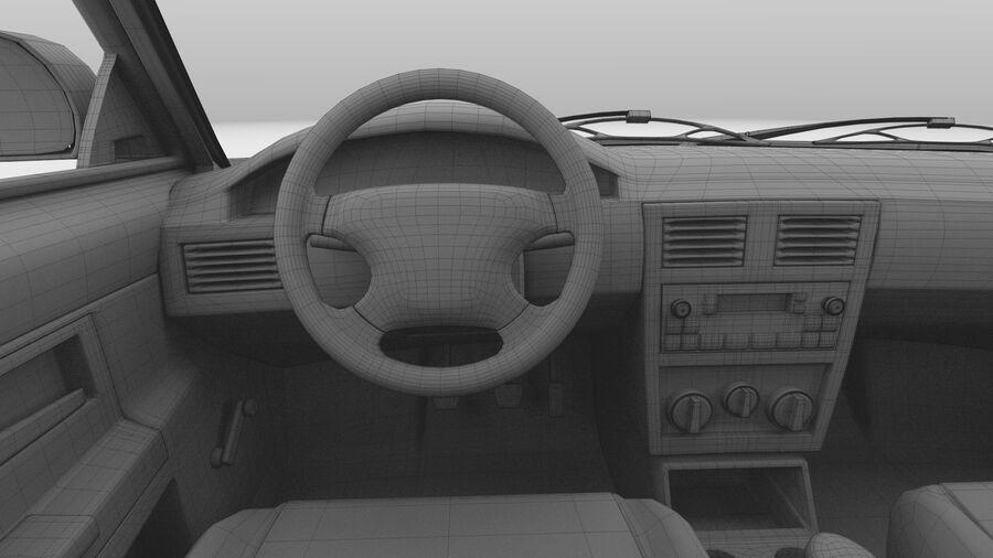 Generic car (Sedan) royalty-free 3d model - Preview no. 42