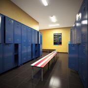 Umkleideraum im Fitnessstudio 3d model