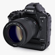 Canon EOS-1D X Mark II with Canon EF 35mm 3d model