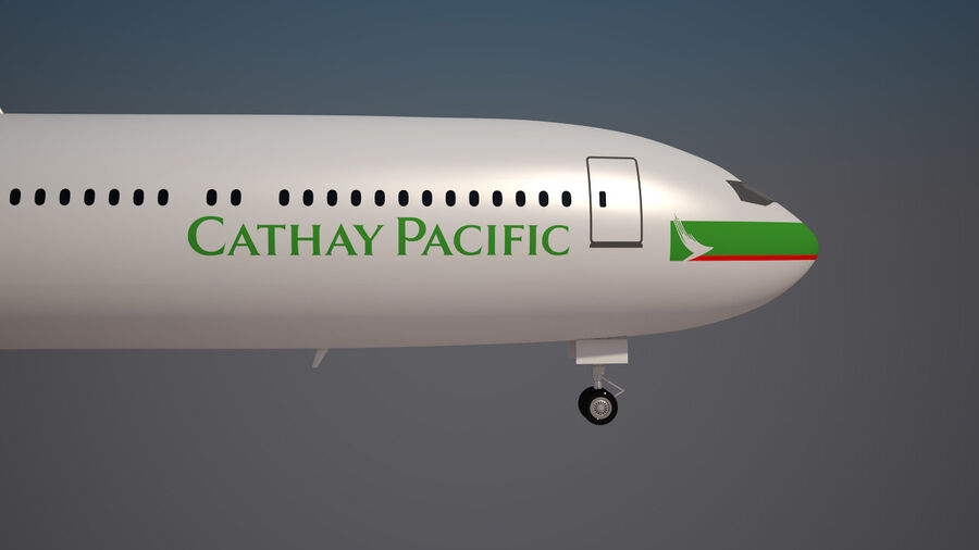 Cathay pacific 777 9X royalty-free 3d model - Preview no. 7