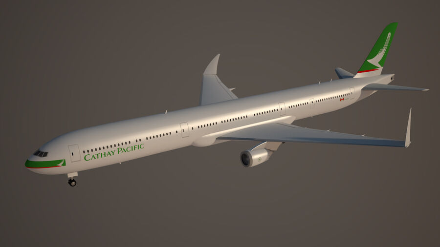 Cathay pacific 777 9X royalty-free 3d model - Preview no. 5