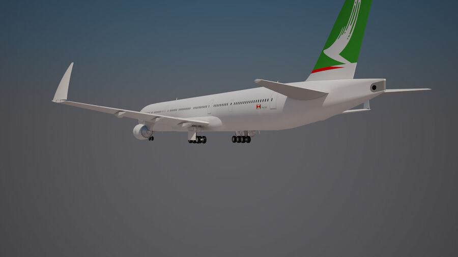 Cathay pacific 777 9X royalty-free 3d model - Preview no. 4
