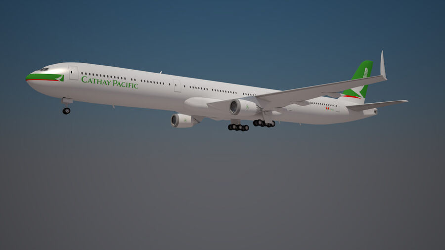 Cathay pacific 777 9X royalty-free 3d model - Preview no. 1
