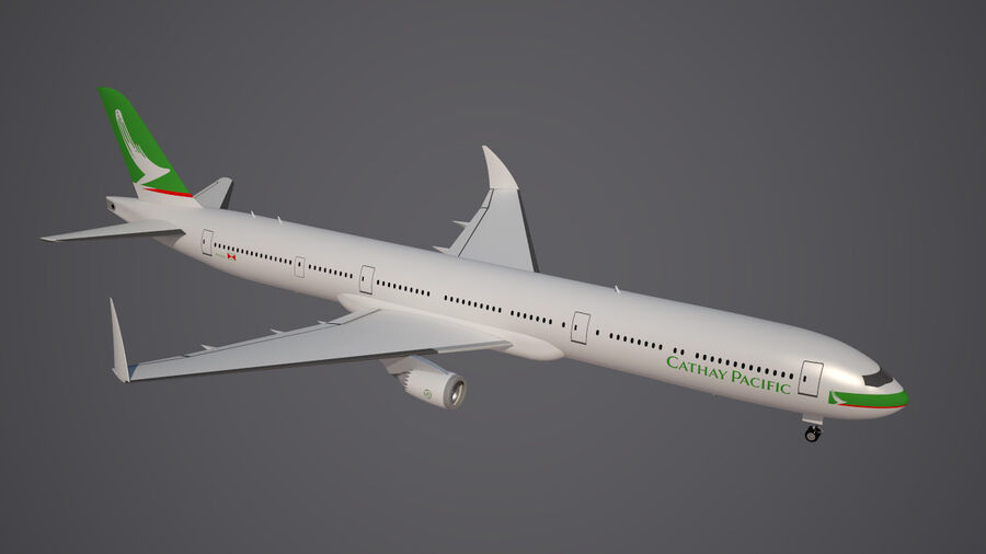 Cathay pacific 777 9X royalty-free 3d model - Preview no. 6