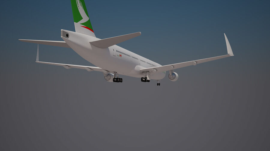 Cathay pacific 777 9X royalty-free 3d model - Preview no. 3
