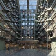 Futuristic Modern Atrium 3d model