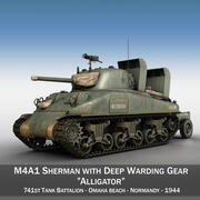 M4A1 Sherman - Alligator 3d model
