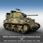 M4A1 Sherman - 16 3d model