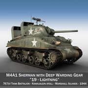 M4A1 Sherman - Relâmpago 3d model