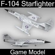 F-104星际战斗机 3d model
