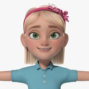 Cartoon Girl Teen Anna 3d model