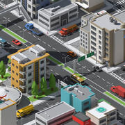 SimplePoly Urban - Risorse low poly 3d model