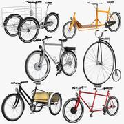 Coleção de bicicletas 3d model