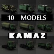 Sammelwagen Kamaz 3d model