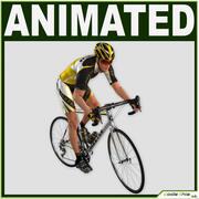 Ciclista masculino realista modelo 3d