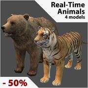 Samling av realistiska djur 3d model