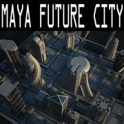 Maya Future City 3d model