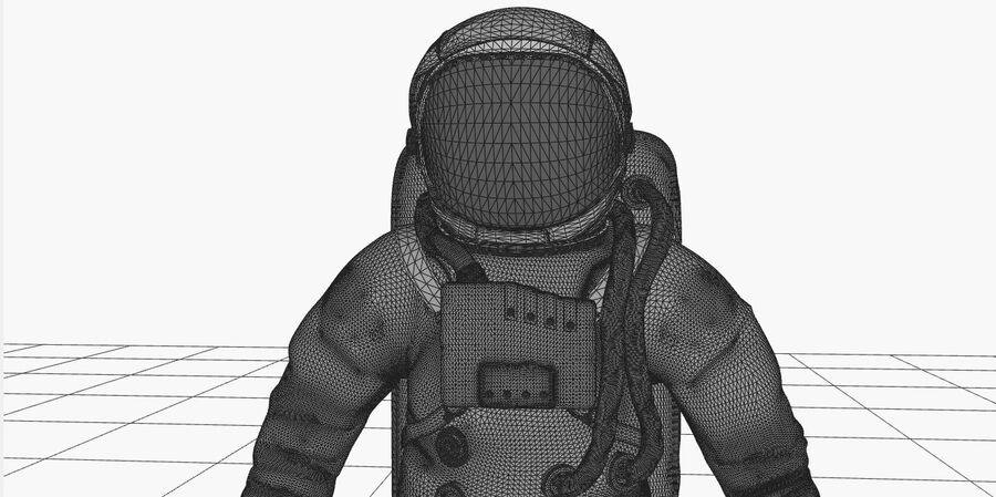 Astronaut royalty-free 3d model - Preview no. 15