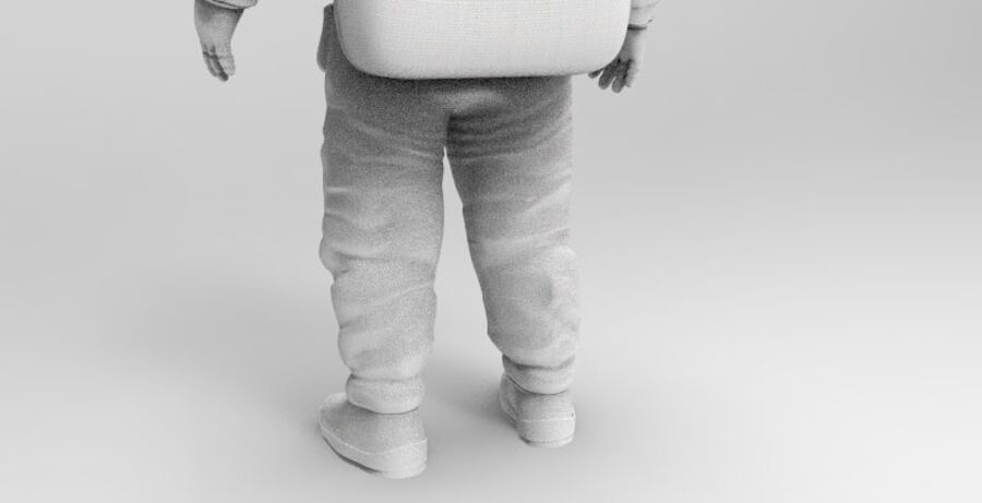Astronaut royalty-free 3d model - Preview no. 8