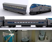 Amtrak机车和运输 3d model