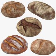 Kolekcja bochenków chleba 3d model