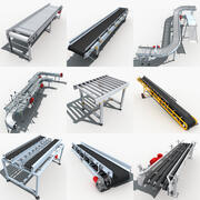 Collection de bandes transporteuses 3d model