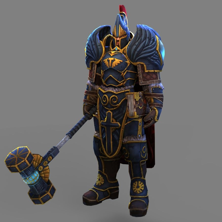 Paladin royalty-free 3d model - Preview no. 3