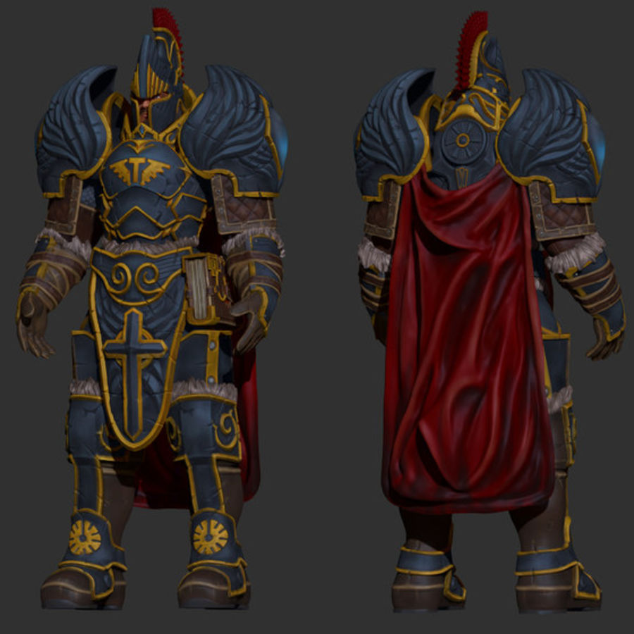 Paladin royalty-free 3d model - Preview no. 7