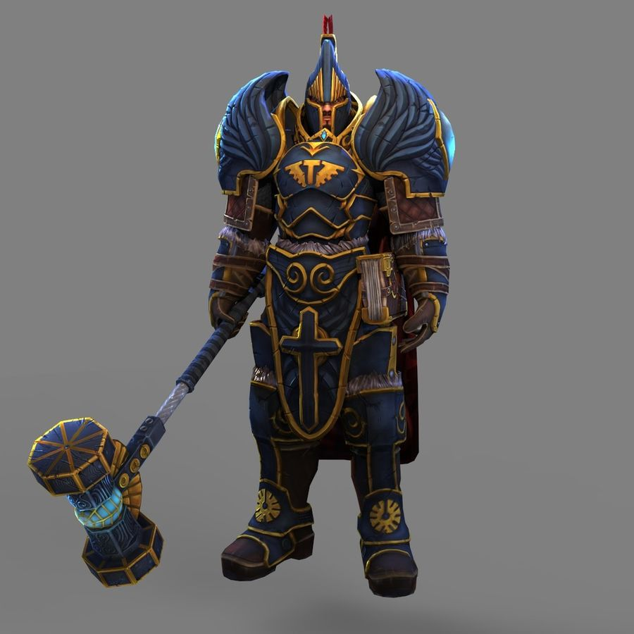 Paladin royalty-free 3d model - Preview no. 4