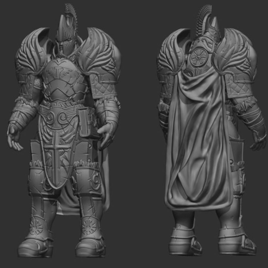 Paladin royalty-free 3d model - Preview no. 5
