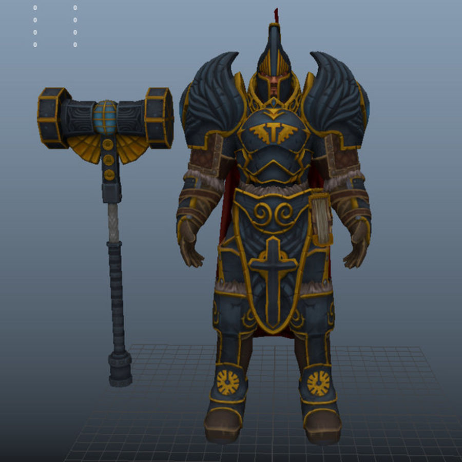 Paladin royalty-free 3d model - Preview no. 8