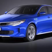 Kia Optima Hybrid 2017 VRAY modelo 3d