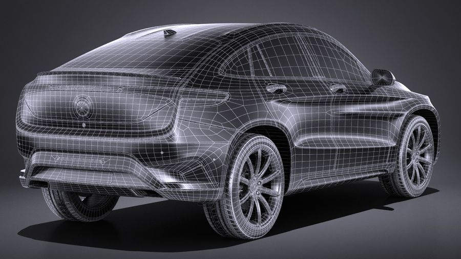 SUV Coupe Luxury 2017 royalty-free 3d model - Preview no. 16