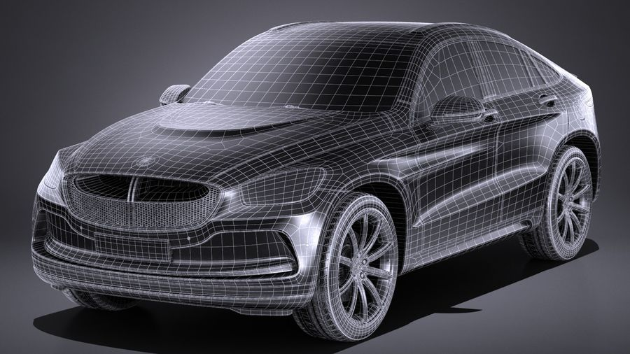 SUV Coupe Luxury 2017 royalty-free 3d model - Preview no. 15