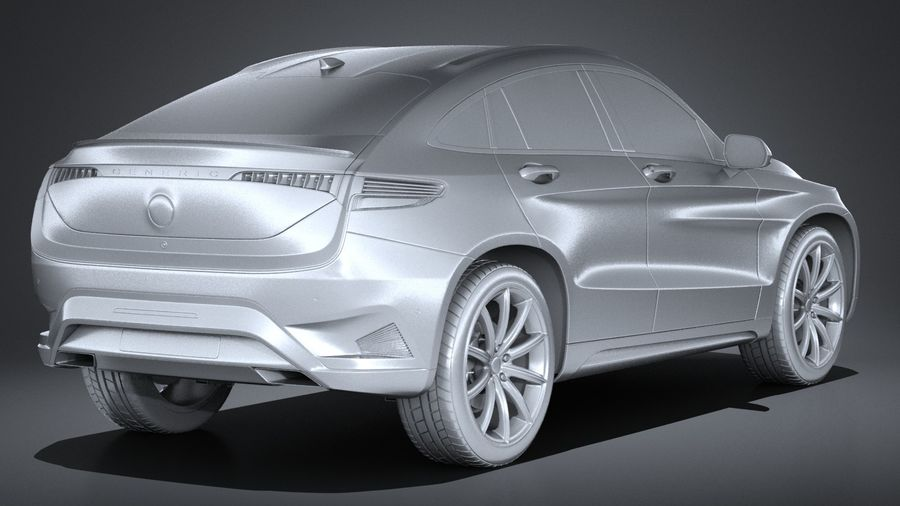 SUV Coupe Luxury 2017 royalty-free 3d model - Preview no. 12