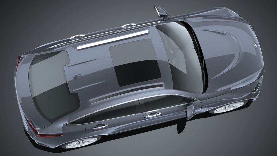 SUV Coupe Luxury 2017 royalty-free 3d model - Preview no. 8